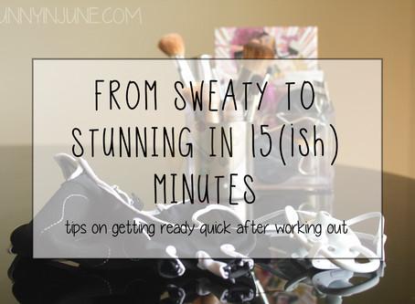 from sweaty to stunning