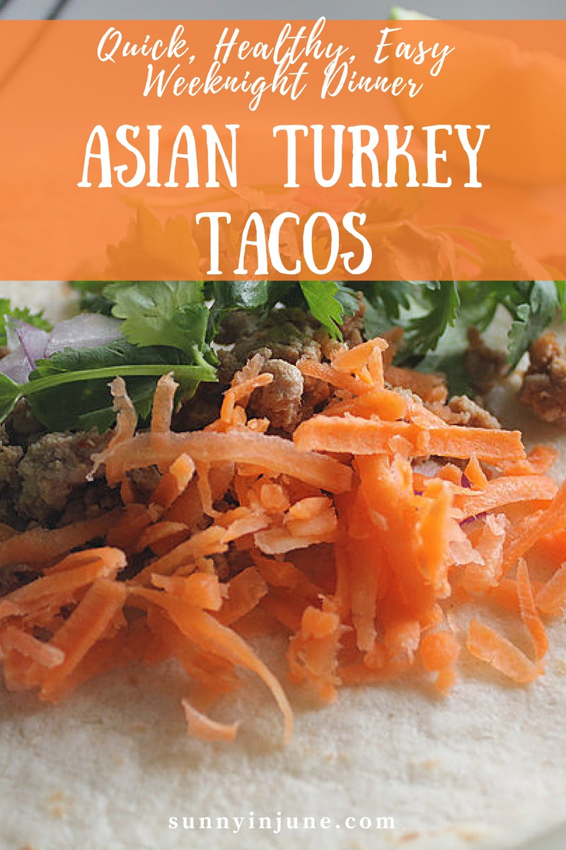 quick, healthy, easy, weeknight dinner idea: asian turkey tacos