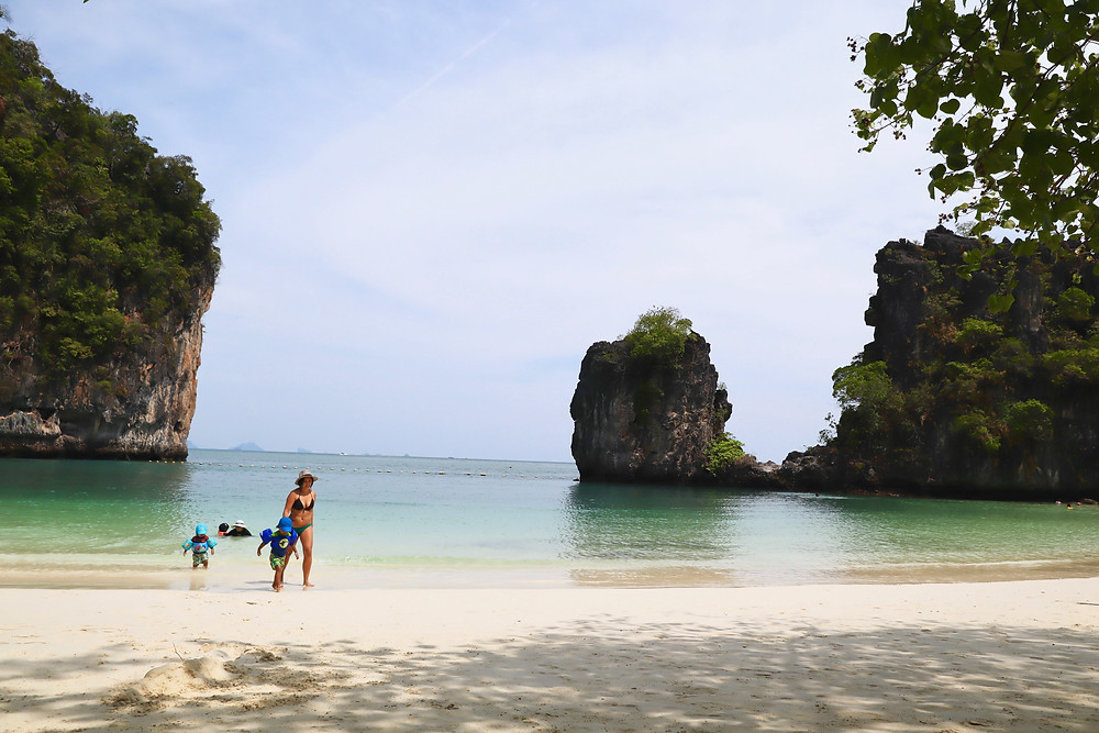 krabi island and ao nang beach island hopping with kids, andaman camp and cruise // sunnyinjune.com