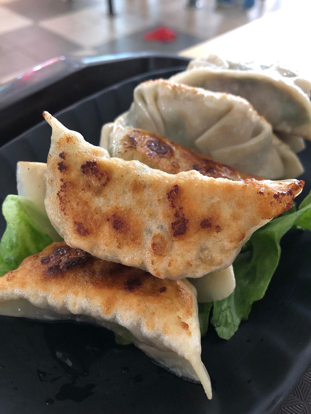 pan fried dumplings from the hawker center // sunnyinjune.com