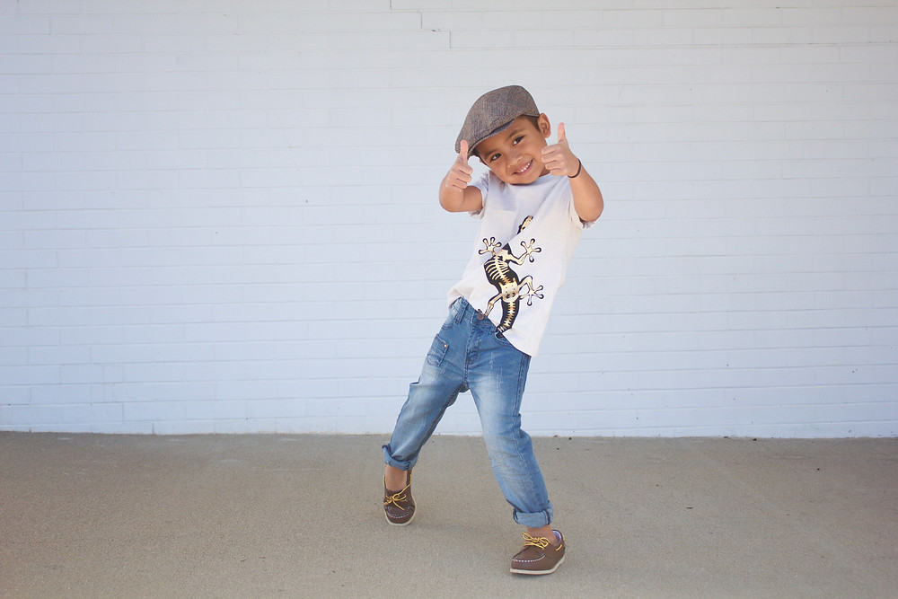 Dapper Style - Rowen Christian Jeans, page boy hat, tight roll, and loafers