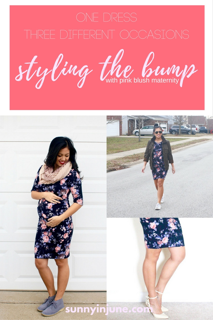 one dress - three different outfits with pink blush maternity