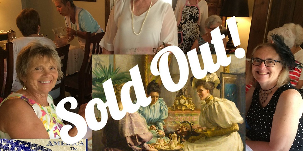 SOLD OUT! - Tea on Tuesday - July