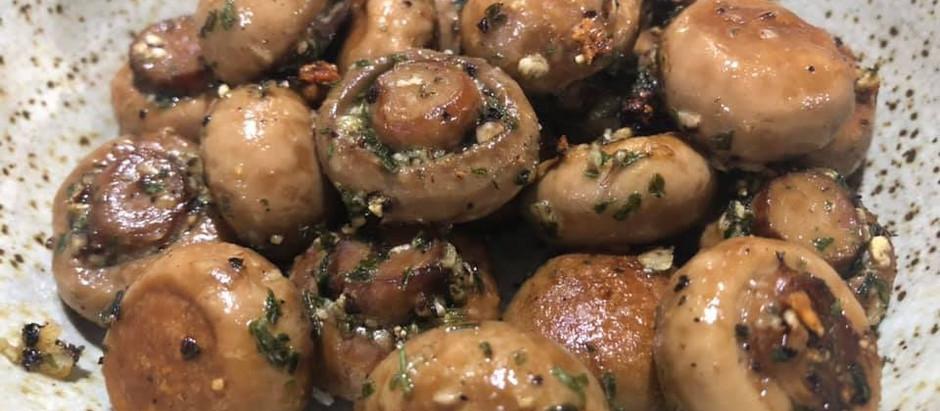Garlicky Roasted Mushrooms