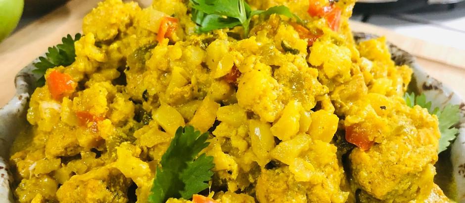 Crockpot Chicken Cauliflower Curry