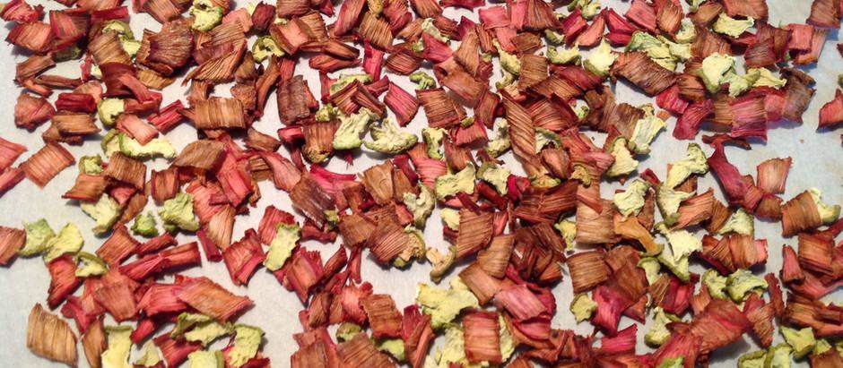 Dried Chayote and Rhubarb