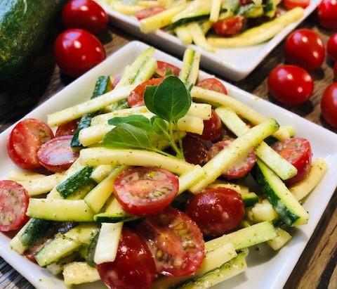 Zucchini & Grape Tomato Salad