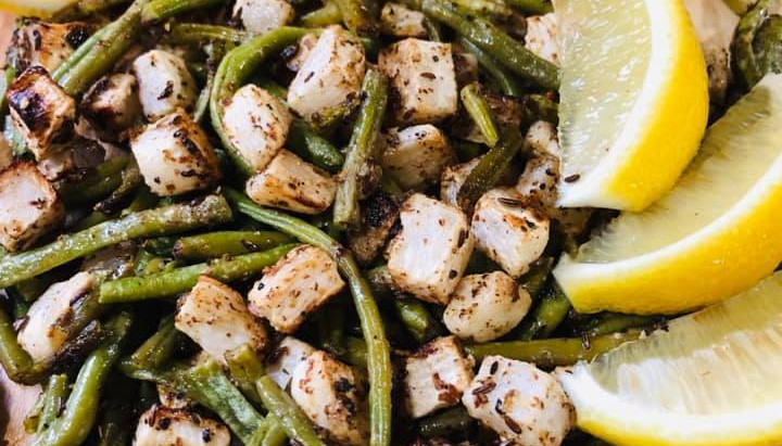 Roasted Turnips and Green Beans