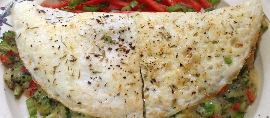 Cheesy Broccoli Egg White Omelette