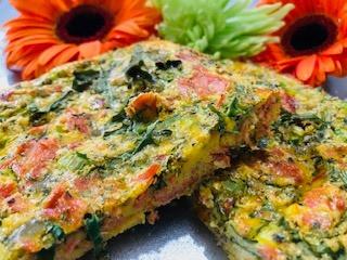 Smoked Salmon & Arugula Frittata