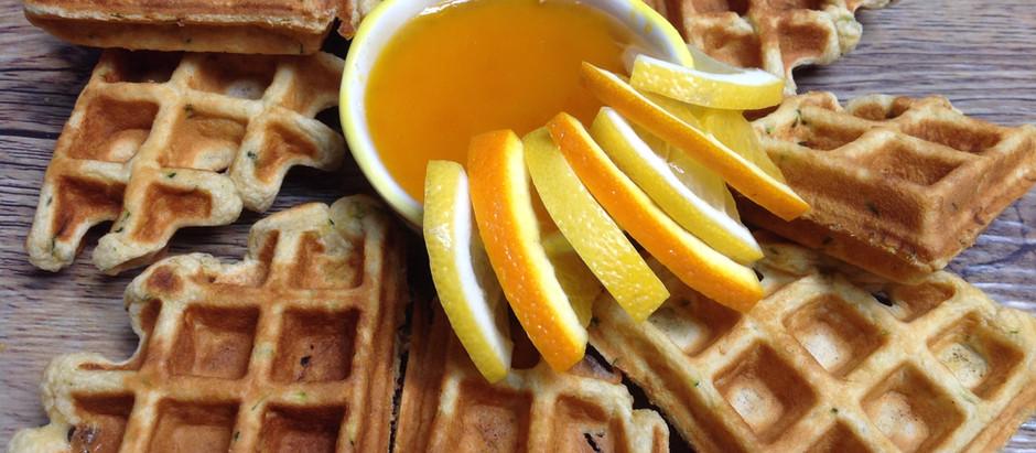 Citrus Zucchini Waffles