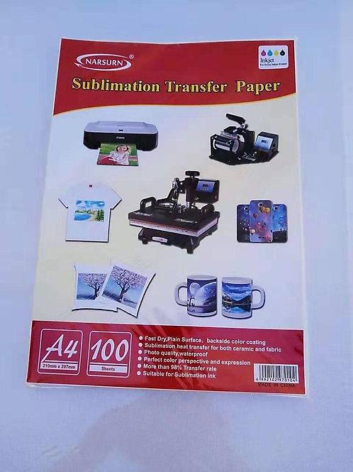 Papel sublimacion transfer A4