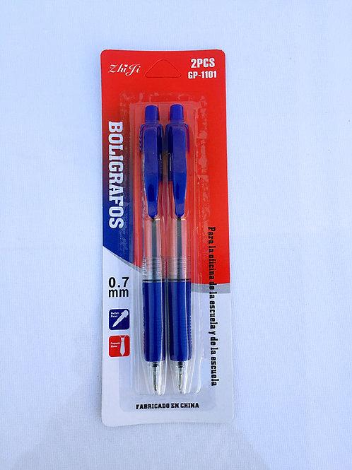 Boligrafos x2.