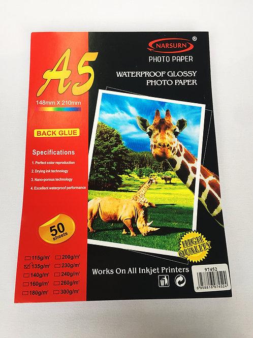 Papel adhesivo A5.135g