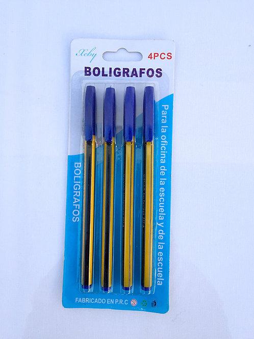 Boligrafos x4.