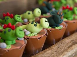 Show da Luna Gustavo cupcakes dinossauro