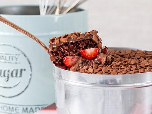 Bolo Chocolate Belga com Morango