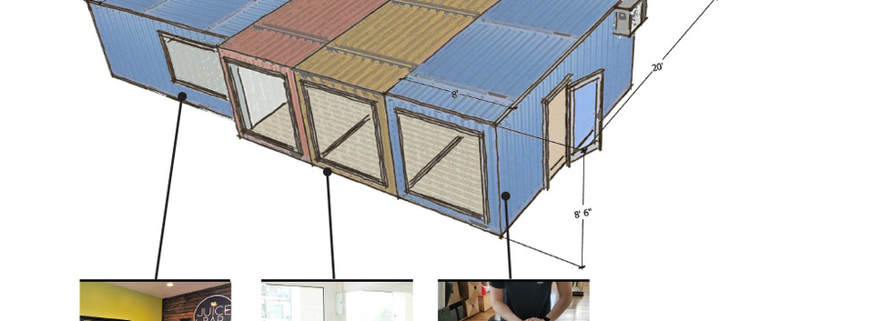 Repurposed Shipping Containers (Upper Level)