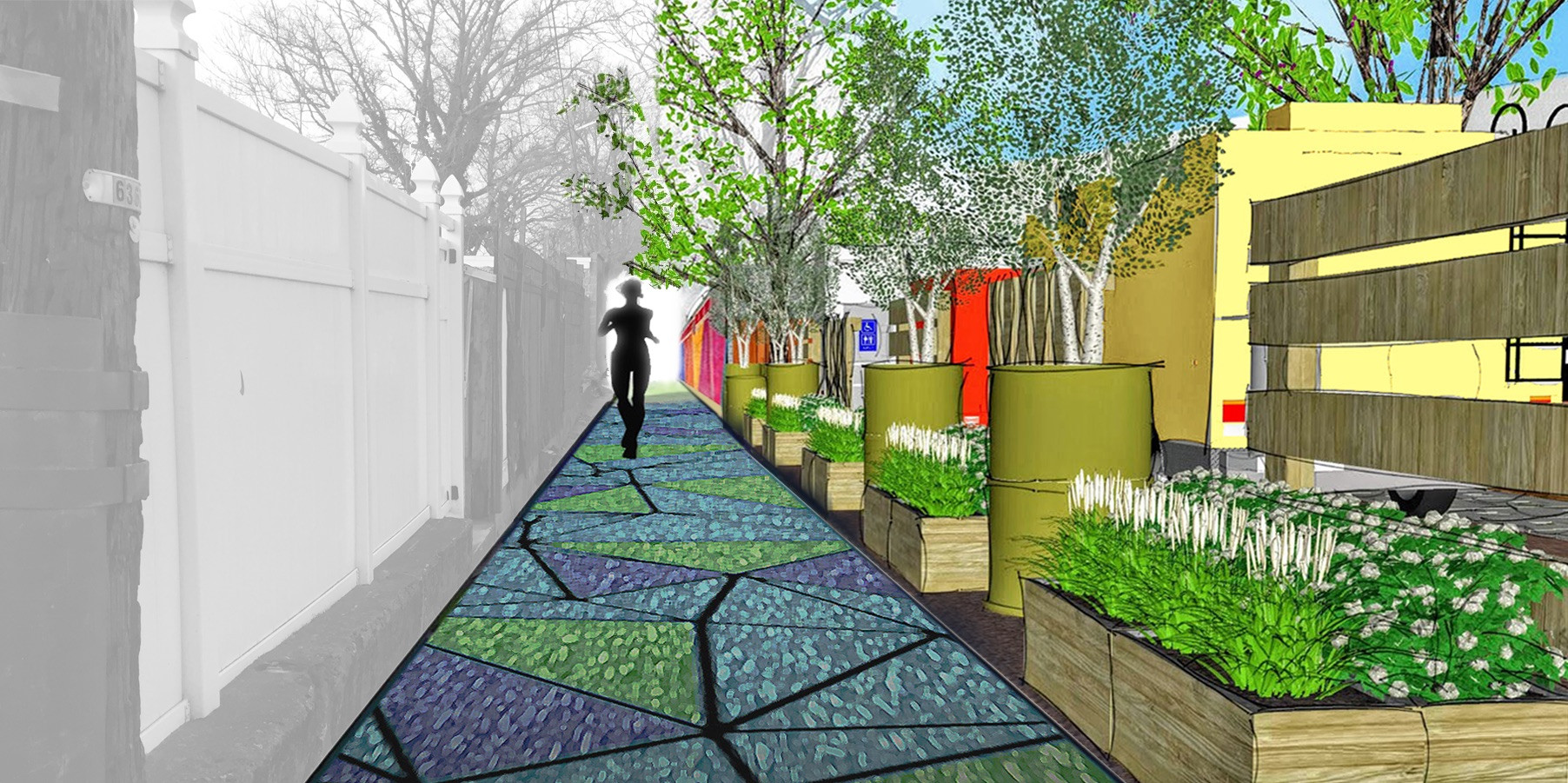 (Proposed) Cohn Alley connecting to vacant lot.