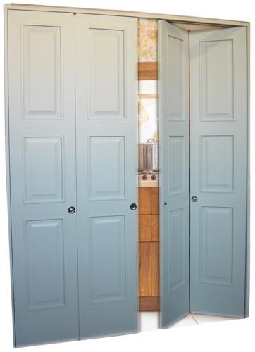 Porta simmetrica a chiusura centrale