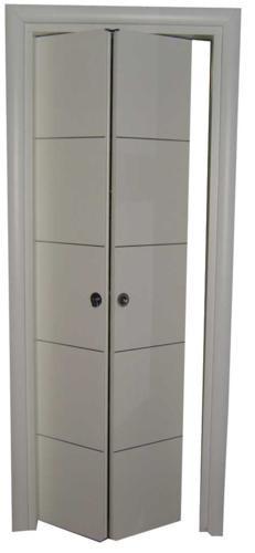 Porta simmetrica con inserti in alluminio