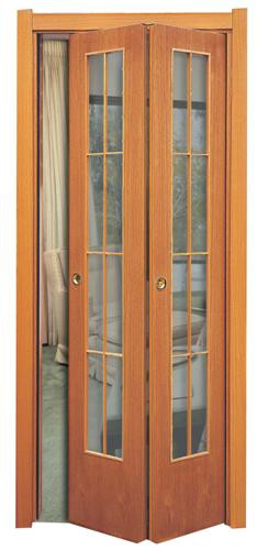 Porta simmetrica con vetrata stile inglese