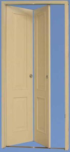 Porta simmetrica con due specchiature bugne lisce
