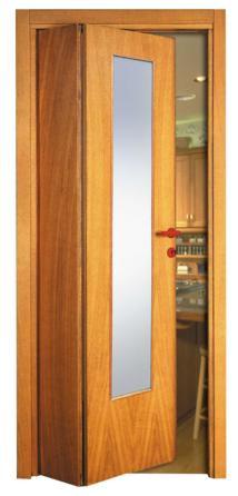 Porta asimmetrica con vetro unico