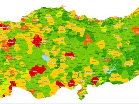 İlçe bazlı gelişmişlik haritası