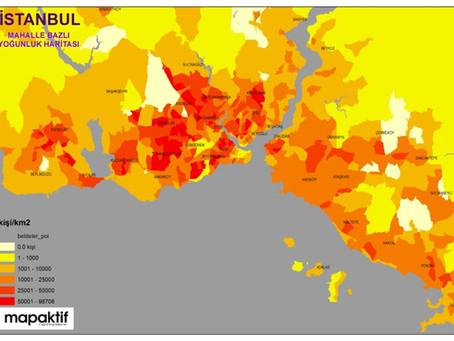 İstanbul'da Mahalle Bazlı Kilometrekareye Kaç Kişi Düşüyor?