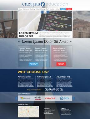 Cacttus Education Web Template