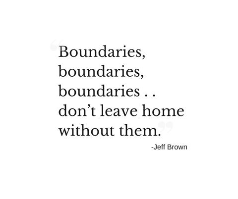 Boundaries!  Boundaries!  Boundaries!