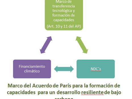 El Acuerdo de París, financiamiento, formación de capacidades y  transferencia tecnológica para enfr