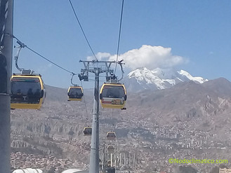 Why is the Bolivian cable car a good solution for the environment?