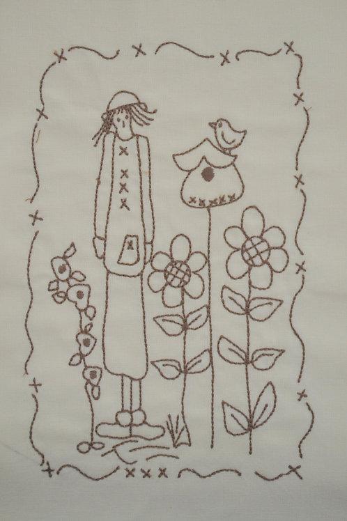 Lady no jardim