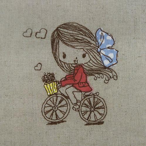 Menina Bicicleta Apliqué