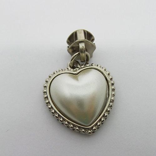 Cursor Coração  com Pérola Prata