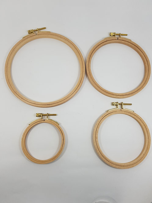Bastidor circular em madeira importado div medidas