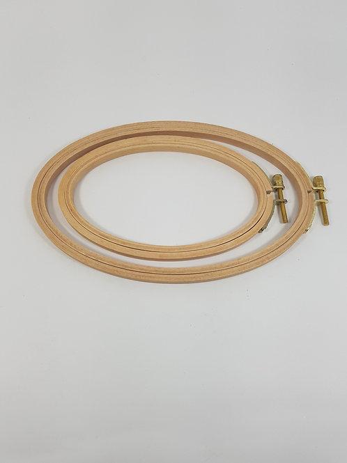 Bastidor oval em madeira importado