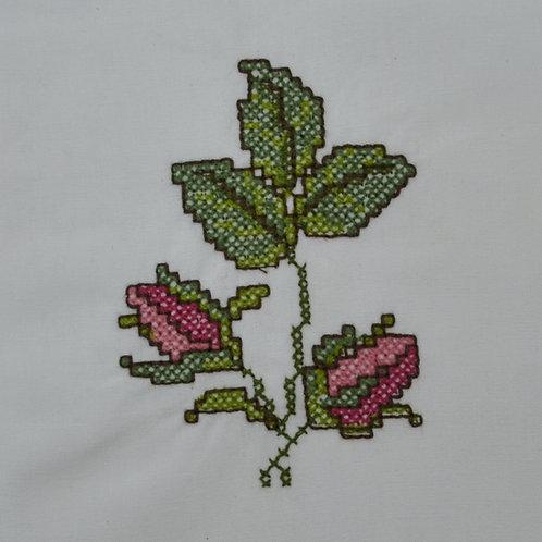 Botão de Rosa Ponto Cruz
