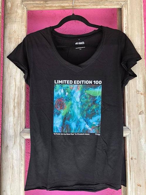 """T Shirt """"El Poder de Una Rosa Roja"""""""