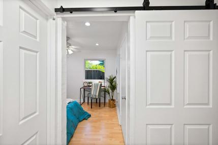 Bedroom with Barn Door Entry