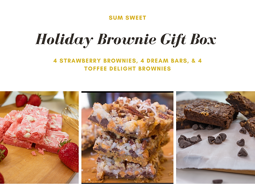 Holiday Brownie Gift Box