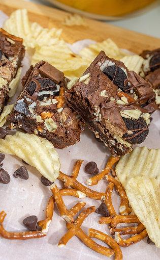Chocolate Crunch Pretzel Brownie