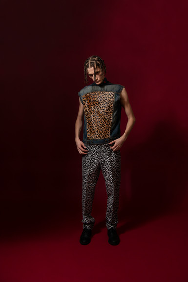 Cheeta Vest/Black Cheeta Pant