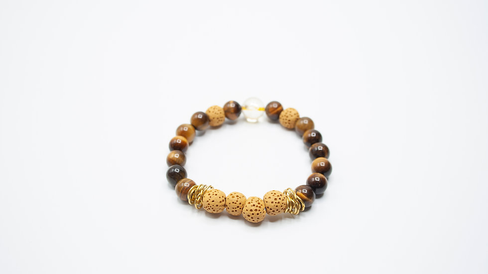 Lava with Tigers Eye and Citrine