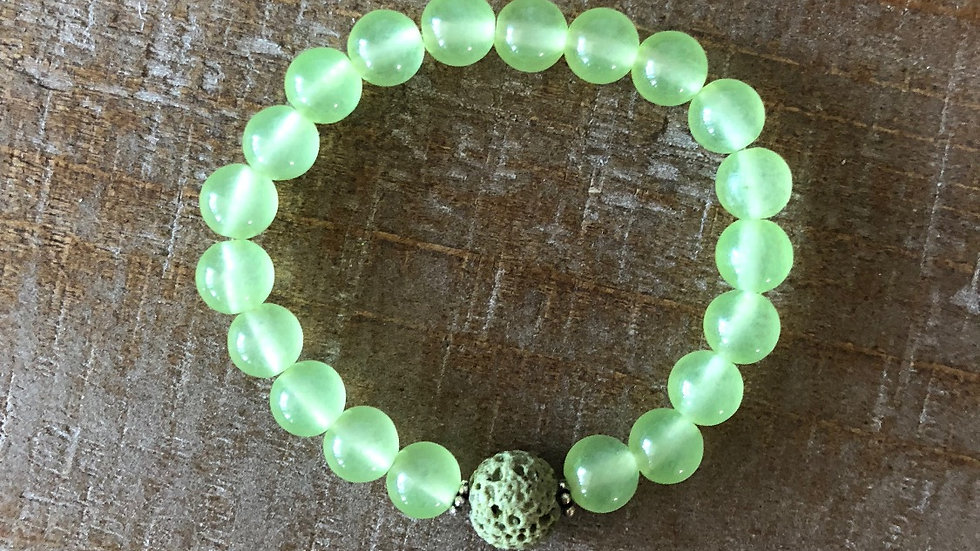 Green Jade with Lava Rock