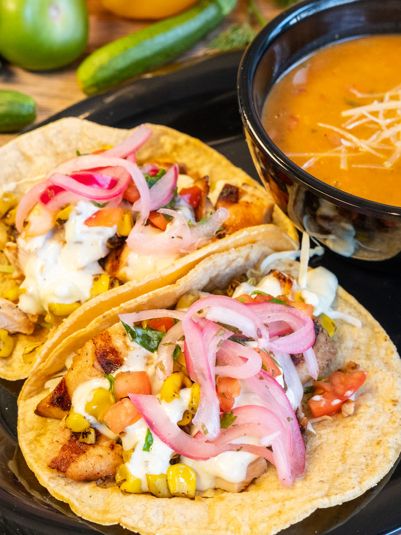 Fish Taco with Beans
