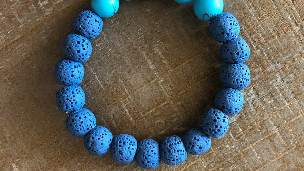 Lava Rock with Turquoise