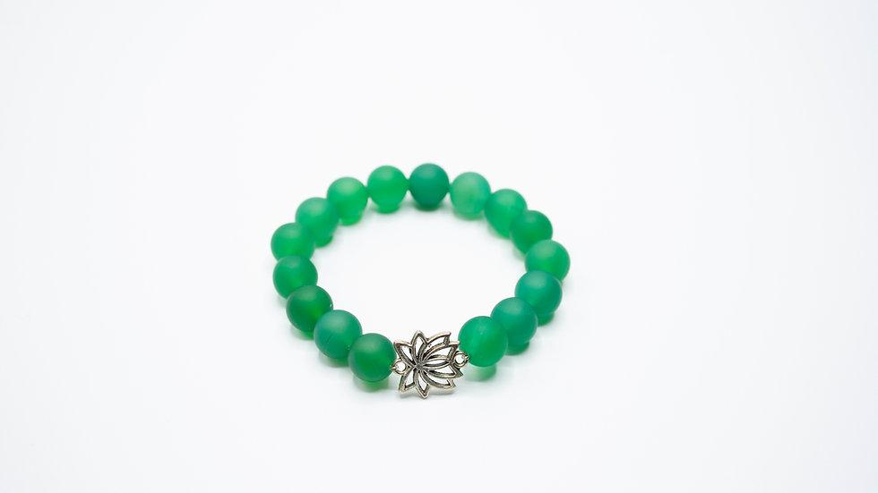 Jade with Lotus Charm
